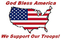 God Bless America, We Support Our Troops!